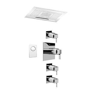 Graff AQ4.000A-LM39S-PC Ceiling-Mount Shower System, Polished Chrome