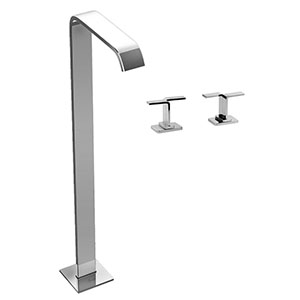 Graff G-2353-C9-SN - Immersion Satin Nickel Floor-Mounted Tub Filler