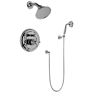 Graff - G-7167-C2S-PC-T - Canterbury Collection Traditional Pressure Balancing Shower Set- Trim Only