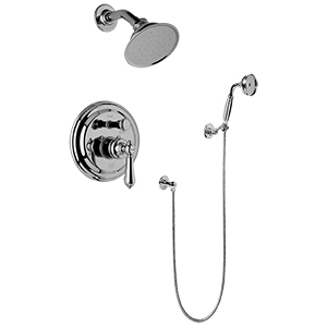 Graff - G-7167-LM34S-ABN-T - Canterbury Collection Traditional Pressure Balancing Shower Set- Trim Only