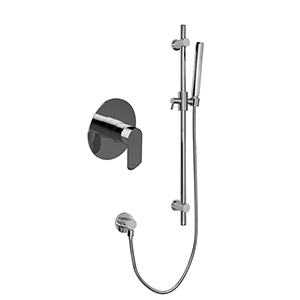 Graff G-7275-LM45S-PC Contemporary Pressure Balancing Shower w/ Handshower, Polished Chrome