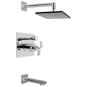 Graff G-7290-C9S-SN - Immersion Satin Nickel Full Pressure Balancing Tub and Shower System