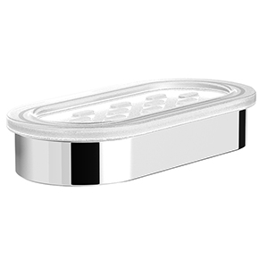 Graff G-9402-BNi Phase/Terra Oval Soap Dish and Holder, Brushed Nickel