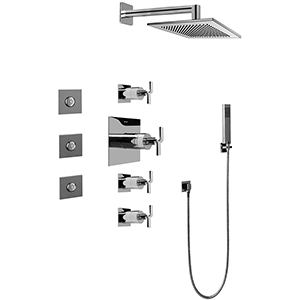 Graff GC1.122A-C9S-PC - Immersion Full Thermostatic Shower System