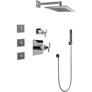 Graff GC5.122A-C9S-PC - Immersion Full Thermostatic Shower System with Diverter Valve